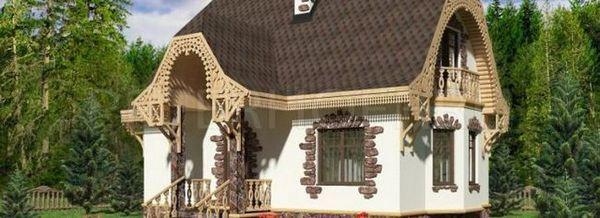 Къщата, изработена от газобетон, е отлична възможност за лятна резиденция