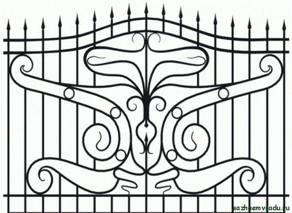 Кована ограда с върхове