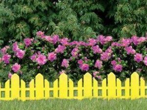 Ограда за цветното легло със собствените си ръце - изберете правилната