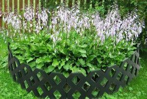 Пластмасова ограда за цветно легло - бързо и ефективно