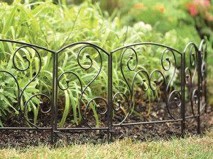 Метални огради за цветни лехи е по-добре от дърво? снимка