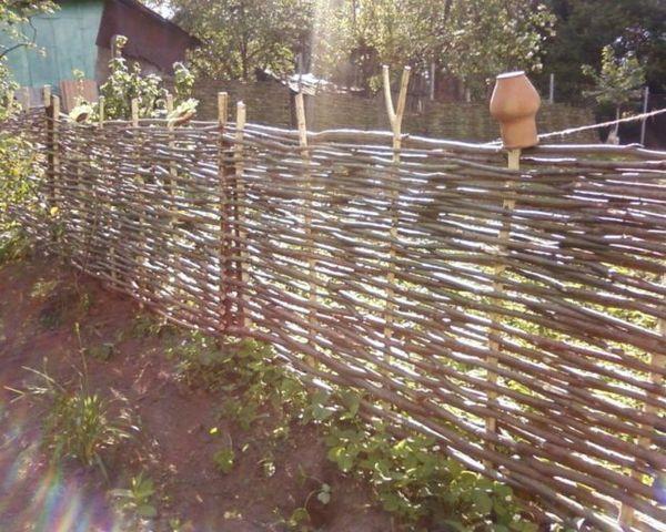 Ограда, изтъкана от лоза