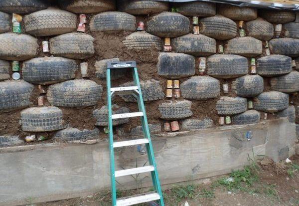 Запълване на кухини между гумите