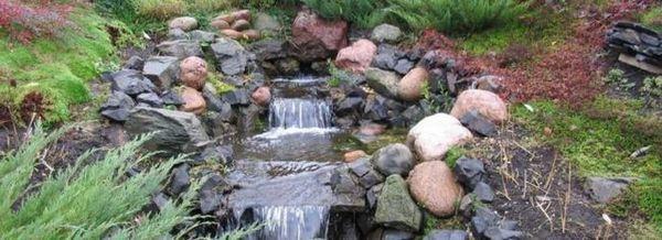 Водопад на склона