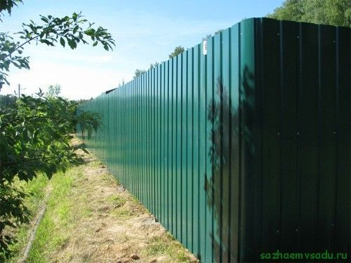 Ограда за къщи от гофриран борд