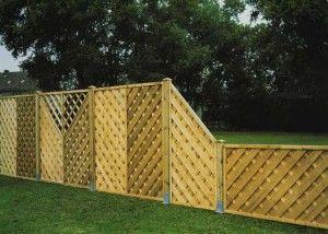 Огради за предната част на градината снимка